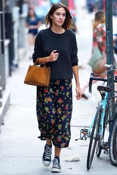 Alexa Chung is seen out in Soho in New York. Picture / Getty Images.