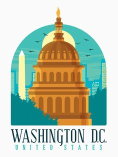 Dc United, United States, Vintage Travel Posters, Poster Vintage, Tourism Poster, Washington Dc, Tshirt Colors, Taj Mahal, Classic T Shirts
