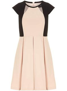 Black and Blush Textured Skater Dress this will look great with a glass of champagne in my hand