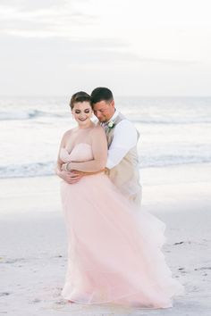 Pink Wedding Dress Florida Beach Photo St
