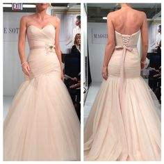 Classic curves with a tint of blush by Maggie Sottero