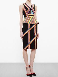 Peter Pilotto Striped Pencil Skirt