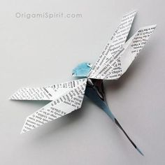 origami-dragonfly-sq498 by Leyla Torres at origamispirit.com