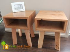 Another pair of Reclaimed Messmate bedside tables