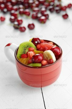 Red cup with fruits ...  appetizing, autumn, background, banana, berry, breakfast, ceramic, cherry, citrus, color, copy-space, cup, dessert, diet, dish, food, freshness, fruit, fruits, gourmet, grapefruit, green, healthcare, healthy, image, ingredient, juicy, kiwi, lifestyle, multi, nature, nobody, orange, organic, pineapple, red, ripe, salad, strawberry, sweet, tropical, variation, yellow
