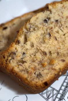 Cream Cheese Banana Nut Bread from Southern Living magazine ~ Says: This is quite honestly some of the best Banana Nut Bread that I've ever had.  An entire 8oz. package of cream cheese is added right to the batter, along with 4 mashed bananas.  The cream cheese adds so much to this recipe, with an incredibly moist texture being the main component.  Plus, the roasted pecans are the perfect addition.  Roasting the nuts brings out their natural oils and adds SO much flavor...Don't skip this ste...