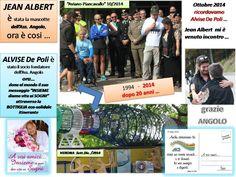 Cosi' il nostro GRAZIE ad ANGOLO ricordando IERI di Alvise - Jean Albert e l'OGGI  20 anni dopo ... il grande sogno BOTTIGLIA eco-solidale alla cui nascita ANGOLO è stata testimonial