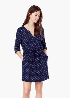 Splývavé šaty s potiskem | MANGO