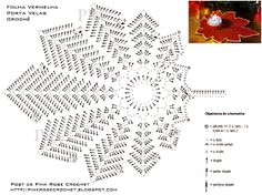 Grace y todo en Crochet: Leaf candle holder for Christmas... Hoja Portavela para Navidad!