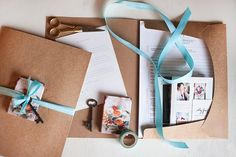 Design Aglow - Welcome Packet for Photographers; i like the ribbon and recycled paper
