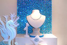 sparklemasters sequin panel display for Mayors Jewelers