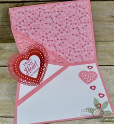 Heartfelt Corner Flip Card – Buckeye InklingsBuckeye Inklings We genuinely believe that tattooing can be a method that's been used … Flip Cards, Fancy Fold Cards, 3d Cards, Pop Up Cards, Folded Cards, Stampin Up Cards, Making Greeting Cards, Greeting Cards Handmade, Card Making Tutorials