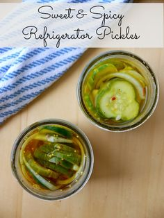 sweet and spicy refrigerator pickles // my bacon-wrapped life