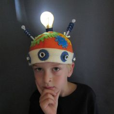 """""""Thinking Cap"""" - with a real light up light!"""