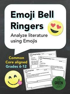Analyzing Literature Using Emojis Bell Ringers/Exit Slips