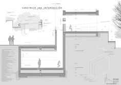 12 formato constructivo Architecture Board, Architecture Drawings, Concept Architecture, Architecture Details, Architectural Engineering, Architectural Section, Construction Drawings, Construction Design, Modern Buildings