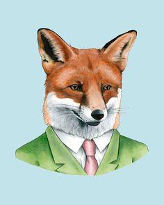 Red Fox art print 8x10 by berkleyillustration on Etsy, $18.00