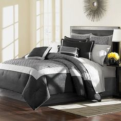 Home Classics Kentfield Tufted 16-pc. Comforter Set   i loveee this for the bedroom :)