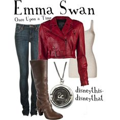 OUAT - Emma Swan, created by disneythis-disneythat on Polyvore