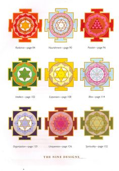 sacred geometry, yantras thanks again, Maria