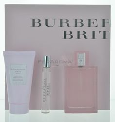 Burberry Brit Sheer by Burberry Gift Set for Women 3 piece gift set for Women Brit Sheer by Burberry for Women , this fruity and fresh scent is a combination of Lychee, Yuzu, Pineapple Leaf, and Mandarin Orange.