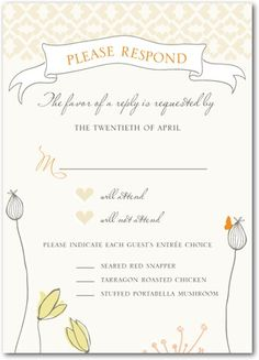 cute RSVP card - will include place for email and song choice