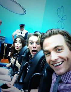 Lily, Jamie and Kevin haha Jamie's face!
