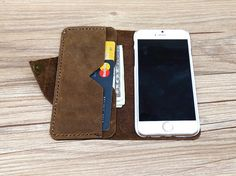 Personalized iPhone 6s Case iPhone 6 Wallet Case Leather by SkyWoo