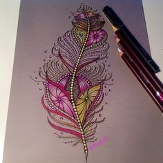 "World of Artists en Instagram: ""Beautiful feather By @rootje23 - Check out our fellow art page @arts_help"""