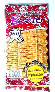 BENTO THAI FOOD SEASONED SQUID SEAFOOR SNACK FLAVOR SWEET & SPICY DELICIOUS HOT