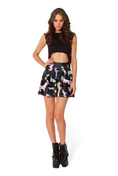 Cotton Candy Corn Skater Skirt – Black Milk Clothing. Size L