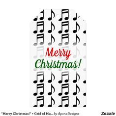 Shop for Merry Christmas gift tags & enclosure cards on Zazzle. Music Teacher Gifts, Music Teachers, Christmas Gift Tags, Merry Christmas, Music Lovers, Musicians, Grid, Notes, Cards