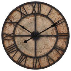 Bryan Map Wall Clock traditional-wall-clocks