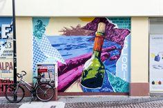3Steps | 2017 | Flussgeschichten | 3stepscrew | 3Stepscrew | streetart | Gießen | rivertales | River Tales | mural art | urban art | #graffitiart #muralart #streetart #urbanart Graffiti Art, Mural Art, Art Festival, Painting, River, Destinations, History, Viajes, Mural Wall Art