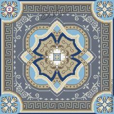 Купить Схема вышивки подушки MS-7721 - комбинированный, авторская разработка, реконструкция схемы