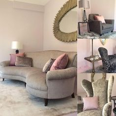 The new John Sankey window display at Hoopers Tunbridge Wells, blending soft blush with grey and old white fabrics. Featuring the Matilda Sofa, Clara Chaise, Tuxedo Club Chair and Rickman Chair @hoopersedit #hoopers #johnsankey #tunbridgewells #windowdisplay #furniture #blush #oldwhite #grey #interiordesign