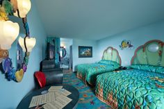 "Sleep ""under the sea"" in the Little Mermaid Wing at Disney's Art of Animation Resort ~ How to Save Money on Disney Resort Hotels."