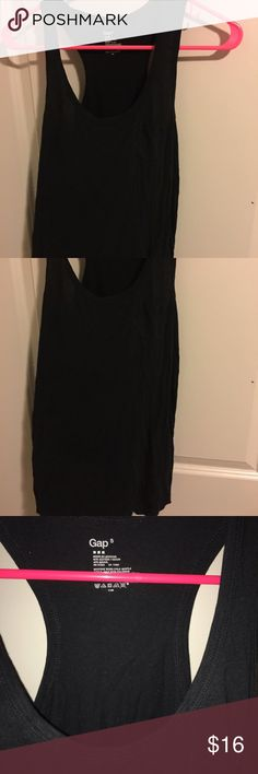 Gap tank top Gap tank top with open mini pocket. Size small cotton and modal. In excellent preowned shape besides some  hairs. No returns final sale. GAP Tops Tank Tops