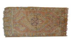 2x3.5 Vintage Oushak Rug Mat :: ONH Vintage Rug ee001339