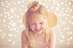 Photo background: Twinkle lights.  Fit for a prince and princess /Canberra Child Photographer
