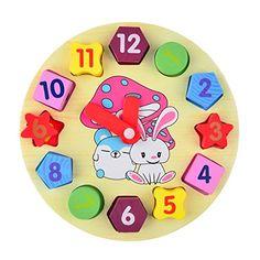 Finer Shop Chidren Gifts Wooden Toy Digital Geometry Clock Children Educational Toy Building Blocks FINER SHOP http://www.amazon.co.uk/dp/B017SCRRXU/ref=cm_sw_r_pi_dp_NmU3wb06MSV95
