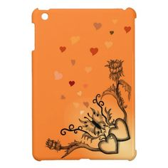 #Heart with #Flower and #Butterfly #NEW #Love #Retro #iPad #Case by Krisi ArtKSZP on Zazzle - 20% OFF ALL ORDERS - TODAY ONLY