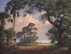 "A.E. Backus Gallery & Museum: ""Beyond the Hammock"" by A.E. Backus (20"" x 24"")"