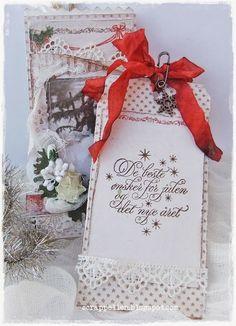 Tag inside, with cute Christmas sentiments by Kort og Godt♥