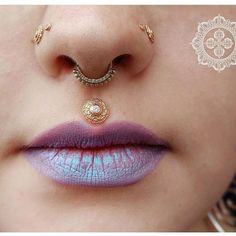 APP member Nick Dorje (@dorjeadornments) posted this captivating picture of a philtrum piercing he performed recently. Find Nick at Dorje Adornments in Rochester, NY for your next piercing!  #appmember #safepiercing #philtrumpiercing #lippiercing #facialpiercing #bodypiercing #stunning #beautiful #gold #fahncee #legitbodypiercing #bodyjewelry #dorjeadornments #rochesterny #cb