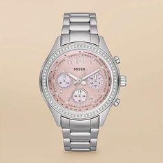Fossil/pink face watch