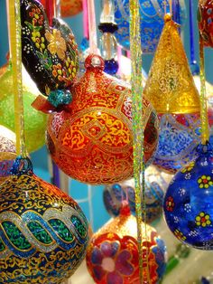 Colourful Glass Balls