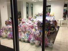 Our team in Las Vegas created Easter Baskets for a children's charity. Well done!  #FreemanCo #TrueBlue #EasterBaskets