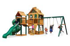 Woodbridge swing set by Gorilla Playsets