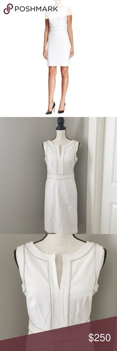 Tory Burch Dress NWT Tory Burch Zoie White Sleeveless Fitted Dress brand new never worn with tags Tory Burch Dresses